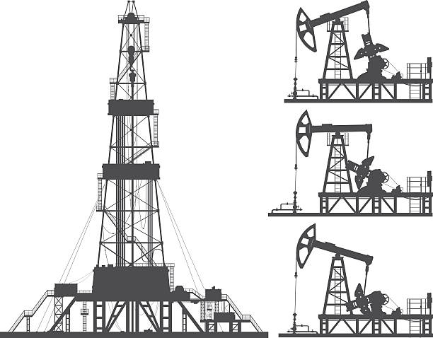 Royalty Free Oil Field Clip Art, Vector Images