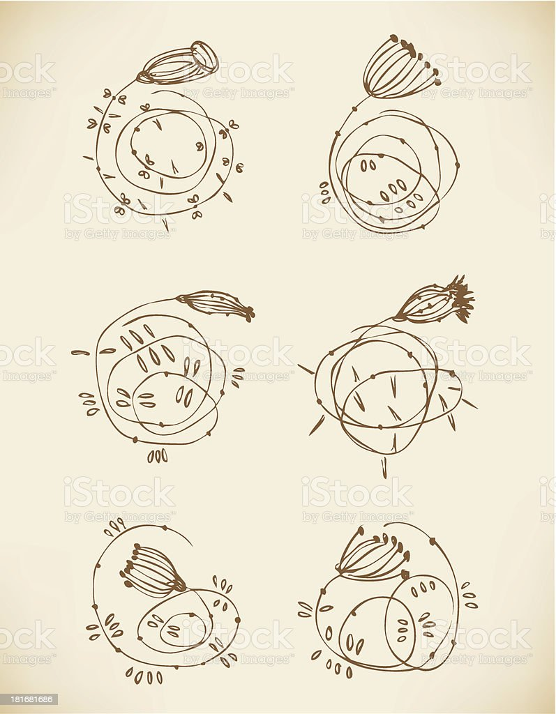 Set of old cute vignettes royalty-free set of old cute vignettes stock vector art & more images of antique