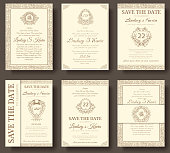 Set of old luxury flyer pages ornament illustration concept