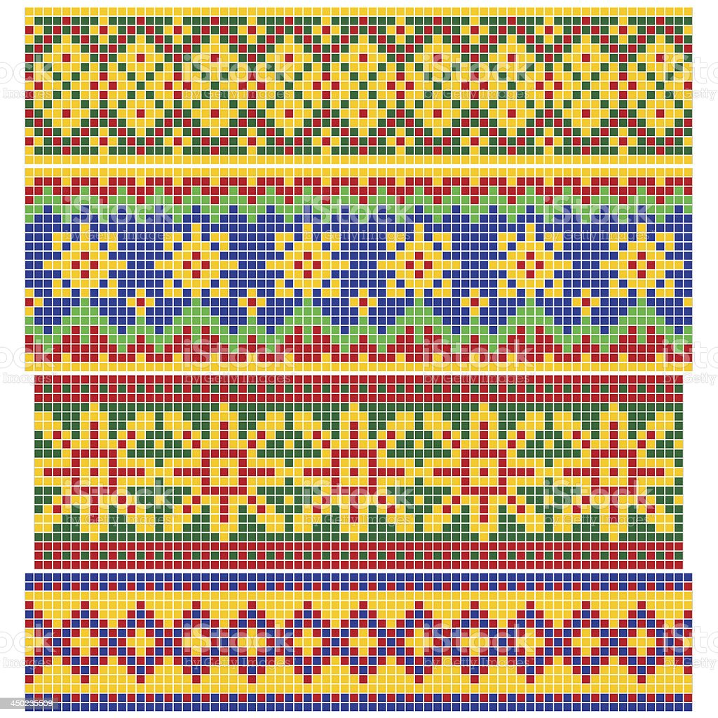 Set of Old Russian patterns royalty-free set of old russian patterns stock vector art & more images of abstract