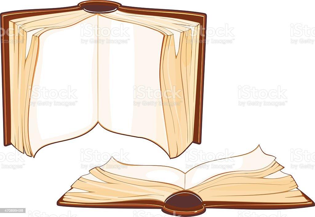 Satz von alte Buch – Vektorgrafik