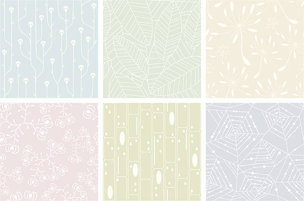 Set of organic patterns Set of organic patterns. Seamless backgrounds. fragility stock illustrations