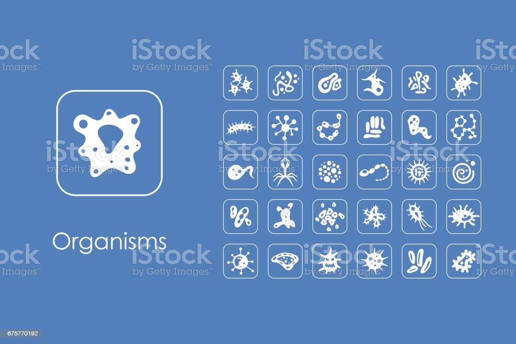 Satz Von Organismen Einfache Symbole Stock Vektor Art und mehr ...