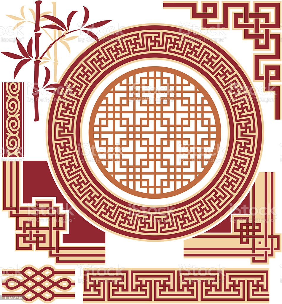 Set of Oriental Design Elements royalty-free set of oriental design elements stock vector art & more images of angle