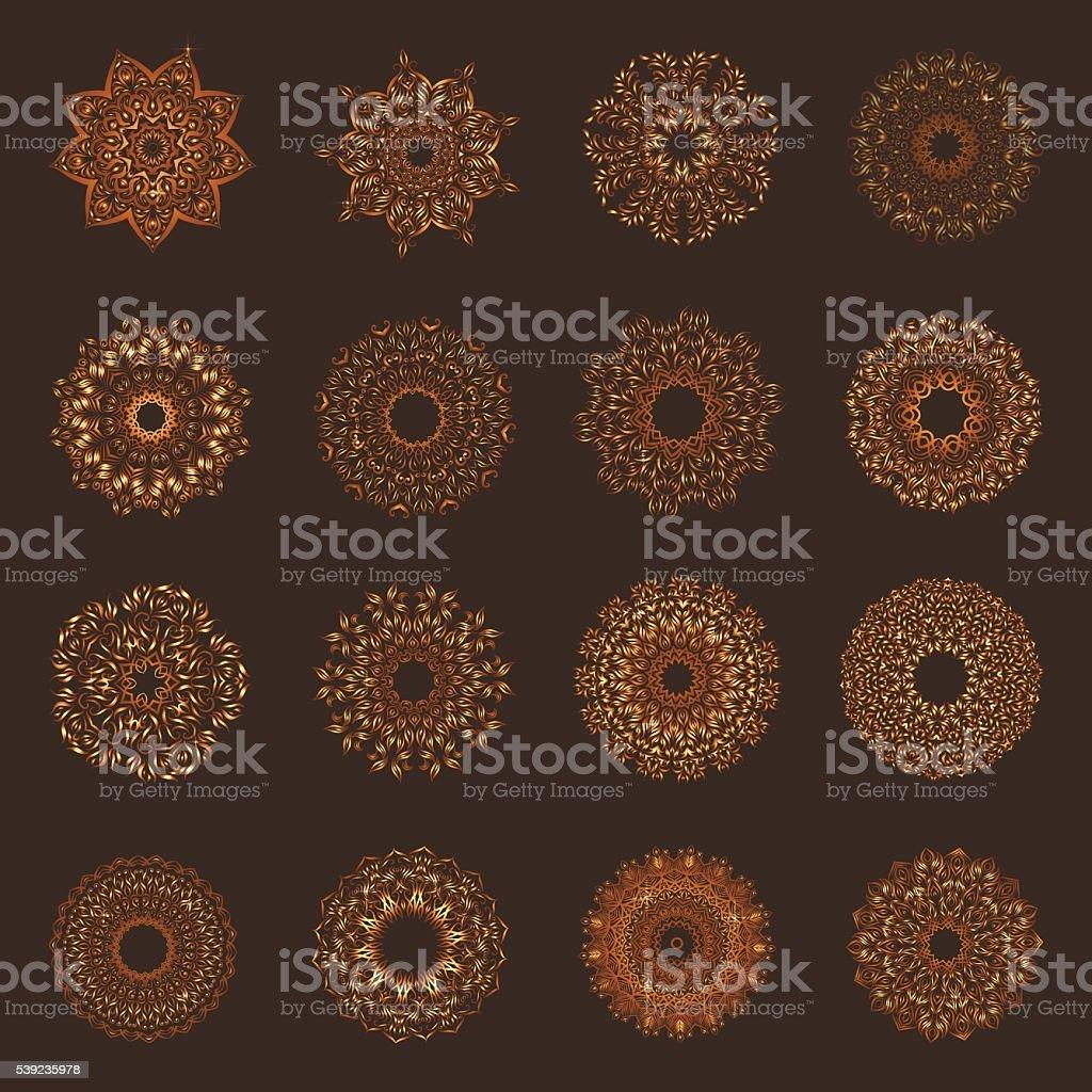 Set of oriental mandalas royalty-free set of oriental mandalas stock vector art & more images of abstract