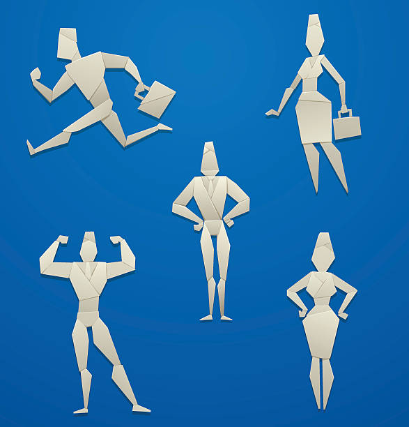 Royalty Free Origami Man Clip Art Vector Images Illustrations