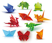 A set of origami