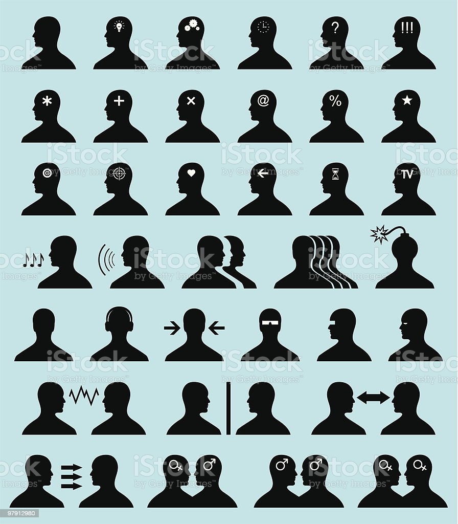 Set of original icons. People (vector). royalty-free set of original icons people stock vector art & more images of activity