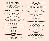 Set of ornamental rule lines