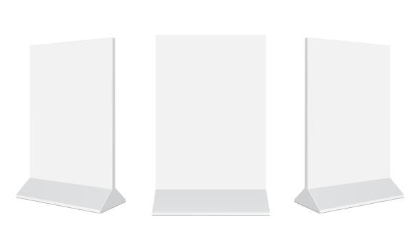 set of outdoor advertising stand banners - standing stock illustrations