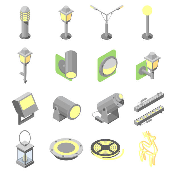 Landscape Lighting Icon: Royalty Free Luminaire Clip Art, Vector Images