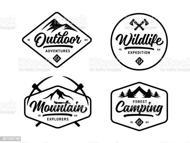Set of outdoor wild life related labels badges emblems vector vintage vector id857090788?b=1&k=6&m=857090788&s=612x612&h=wdnk 7mqylq gxom8wskbdffqtwzmna0cvco5ggygou=