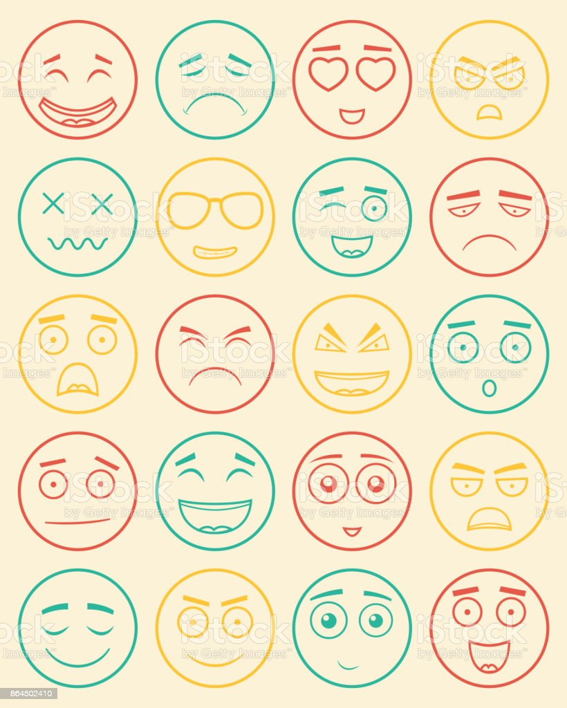 Set of outline emoticons emoji isolated on white background set of outline emoticons emoji isolated on white background emoticon for web site biocorpaavc Image collections