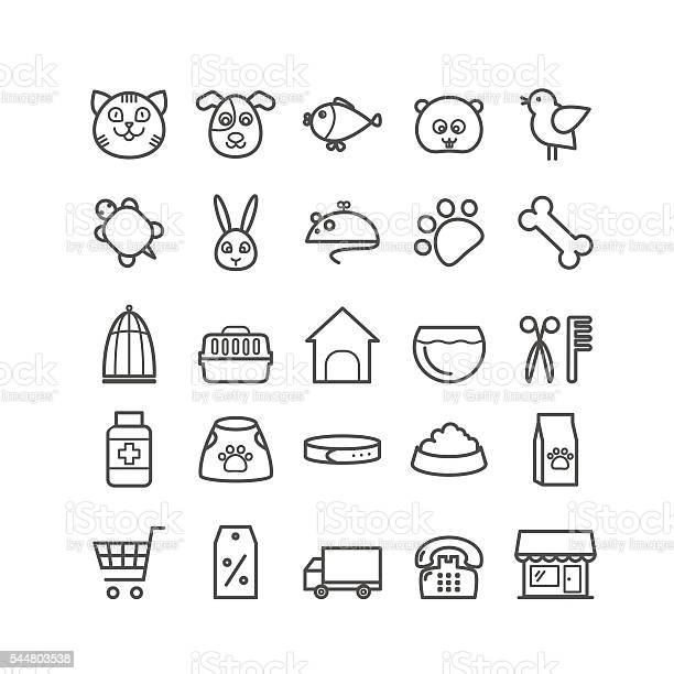 Set of outline pet shop icons vector id544803538?b=1&k=6&m=544803538&s=612x612&h=eygywndn7mw9k90bjpuamgg5i rvawphhvbsy02jyay=