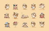Set of Owls