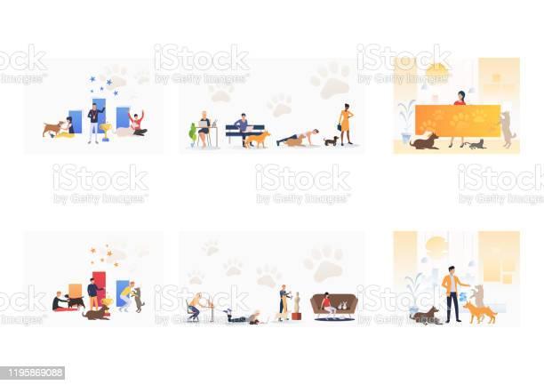 Set of owners with pets vector id1195869088?b=1&k=6&m=1195869088&s=612x612&h= 1wnkv0wsyf2dmkenta p59aaqimwvcsljwzjm56teg=