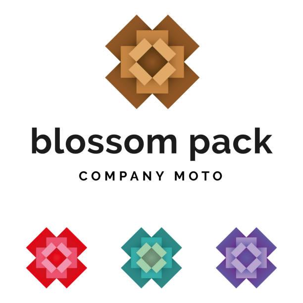 Set of packaging blossom logo identity vector art illustration