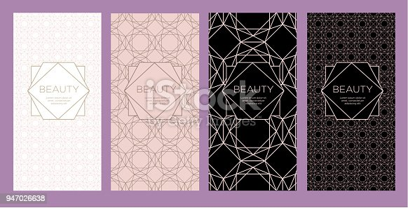 Design template of leaflet cover, flayer, card for the hotel, beauty salon, spa, restaurant, club.