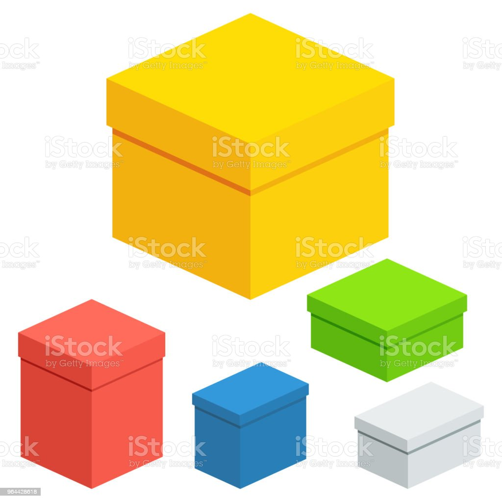 set of packing boxes - Royalty-free Abstract stock vector