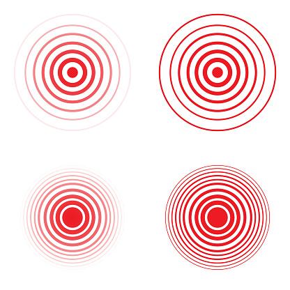 Jeu Du Cercle Rouge De La Douleur Vecteurs libres de droits et plus d'images vectorielles de ...