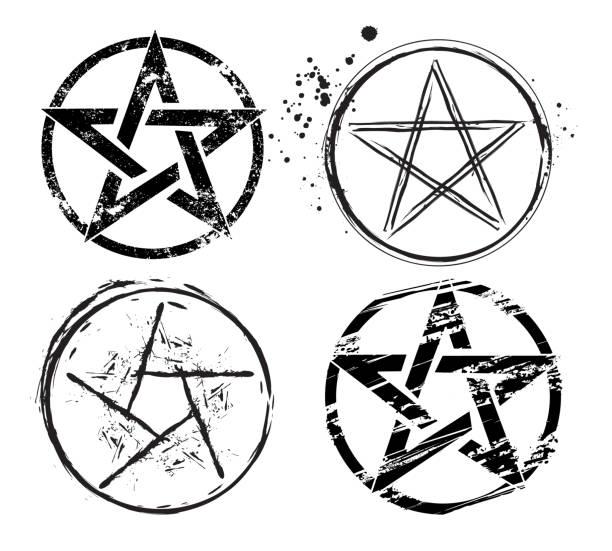 Royalty Free Pentagram Clip Art Vector Images Illustrations Istock