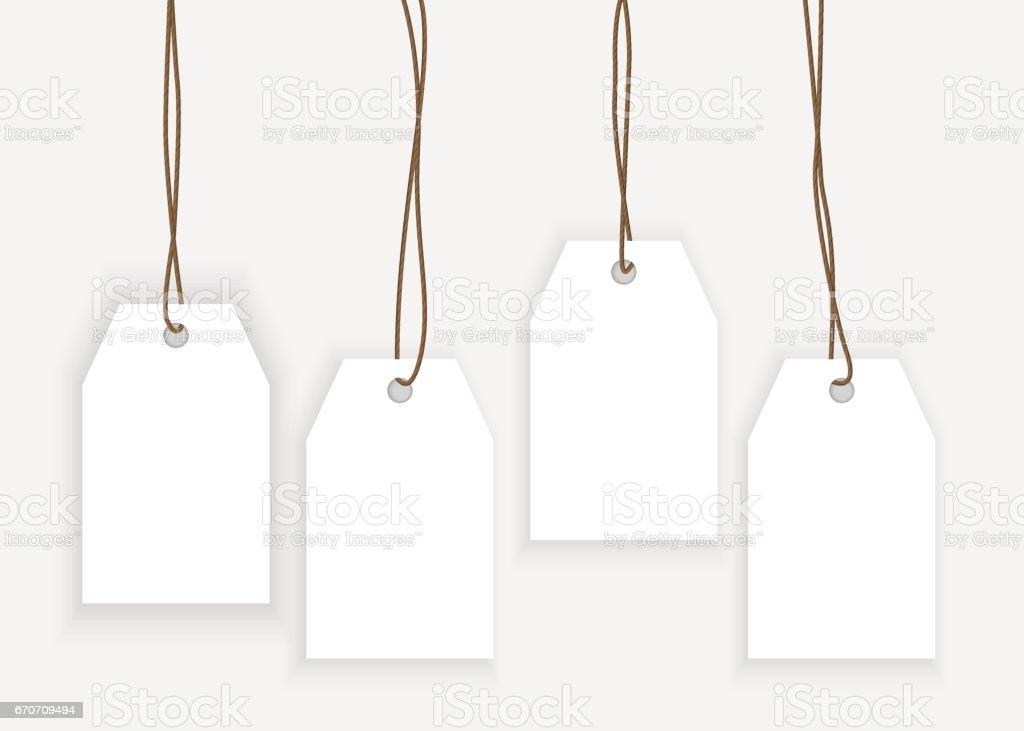 Conjunto De Plantillas De Etiqueta Aisladas En Bckground Gris De ...
