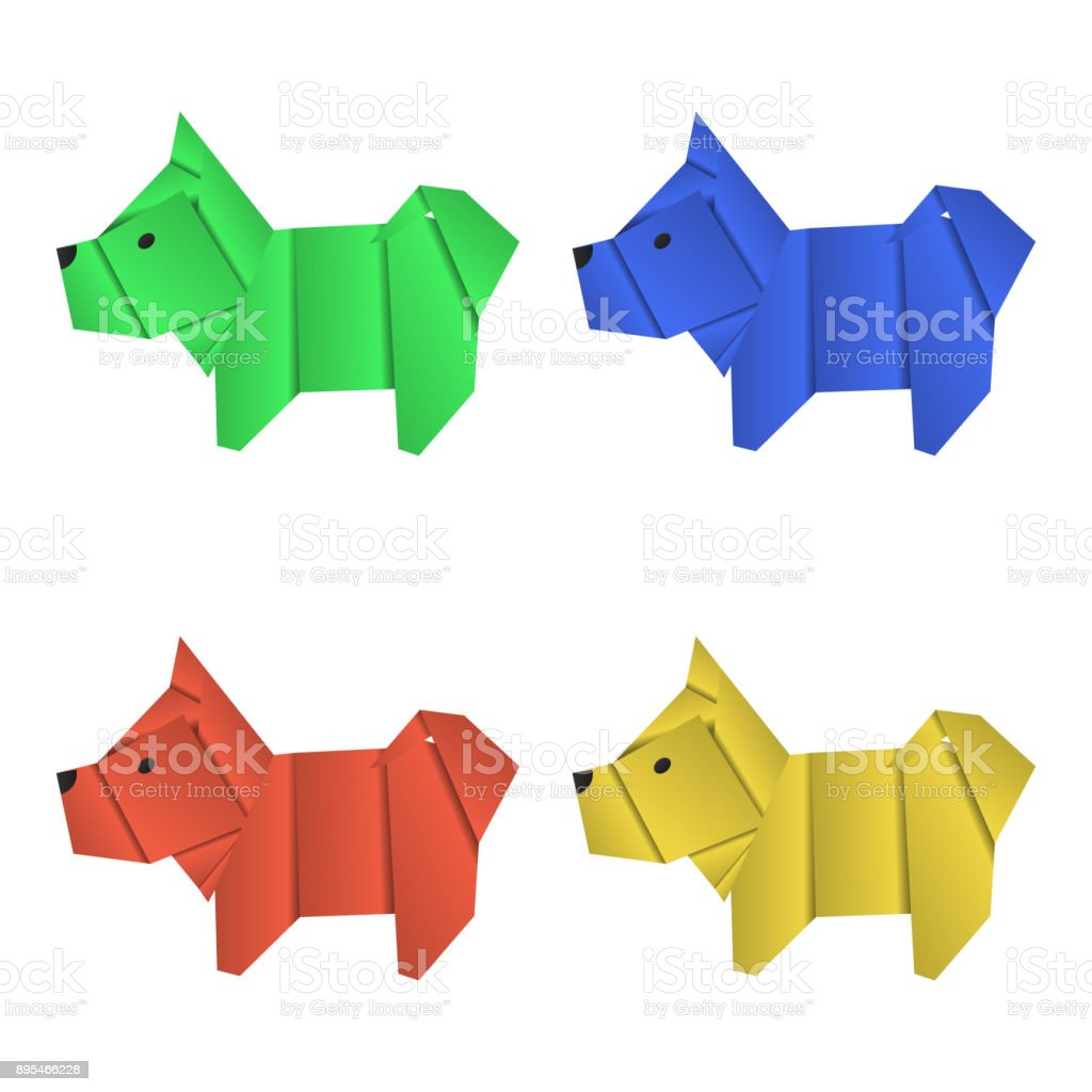Simple origami dogs stock image. Image of paper, children - 174179475 | 1024x1024