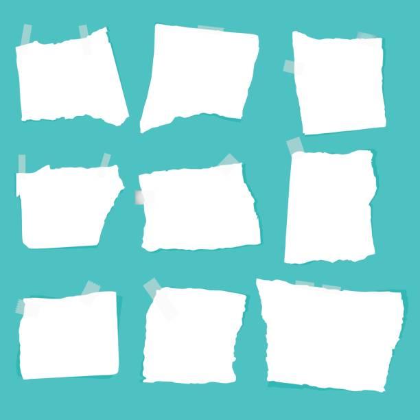 set of paper scraps vector art illustration