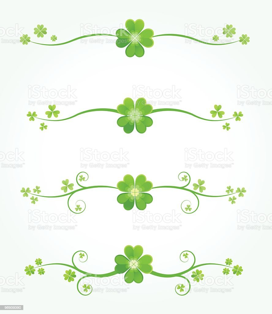 Set of Patrick's day clover borders royalty-free set of patricks day clover borders stock vector art & more images of abstract
