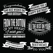 set of patterns for congratulations a happy birthday