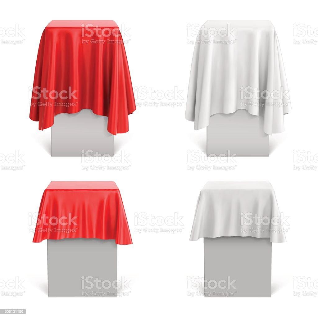 Set of pedestals. Vector illustration vector art illustration