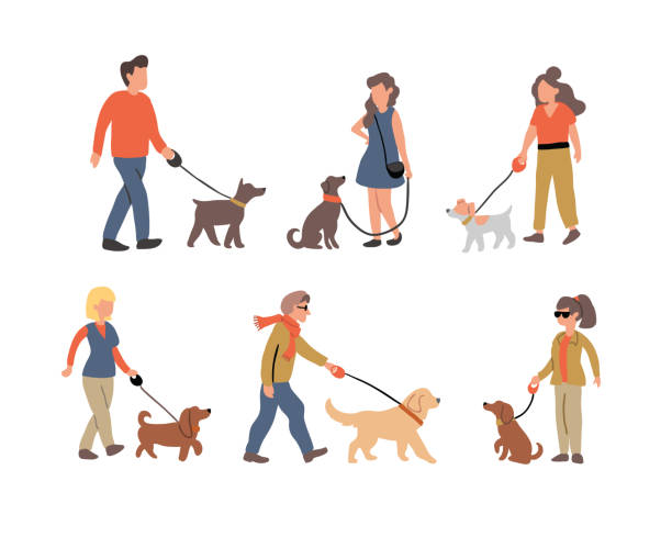 walking dog vector art graphics freevector com walking dog vector art graphics freevector com