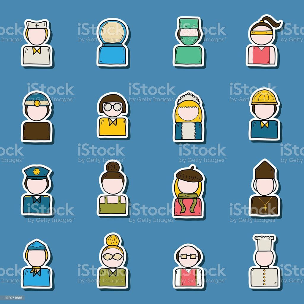 policeman, artist, engineer, nurse, surgeon, waiter, stewardess. Work...