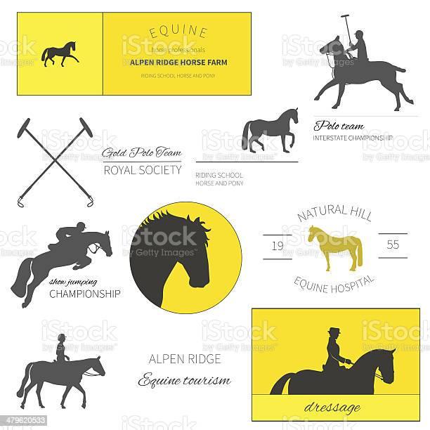 Set of perfect high quality horse labels for equestrian activities vector id479620533?b=1&k=6&m=479620533&s=612x612&h= tamkvedf zi3vyjjve83nbotmnvntpordt9sz9eu1w=