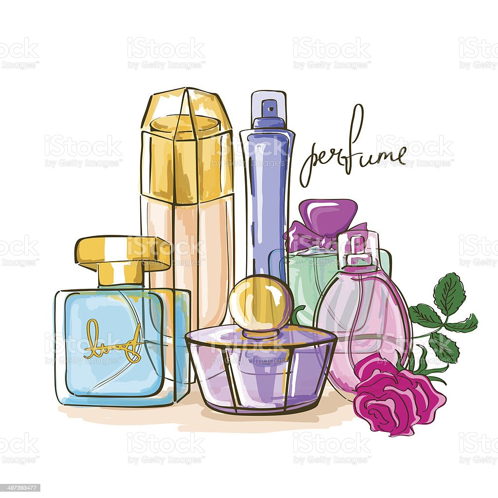 Set of perfume bottles royalty-free set of perfume bottles stock vector art & more images of adult