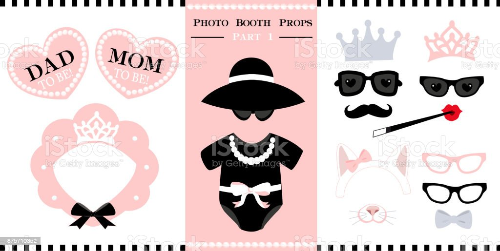 Set Of Photo Booth Printable Props For Bridal Baby Shower Birthday