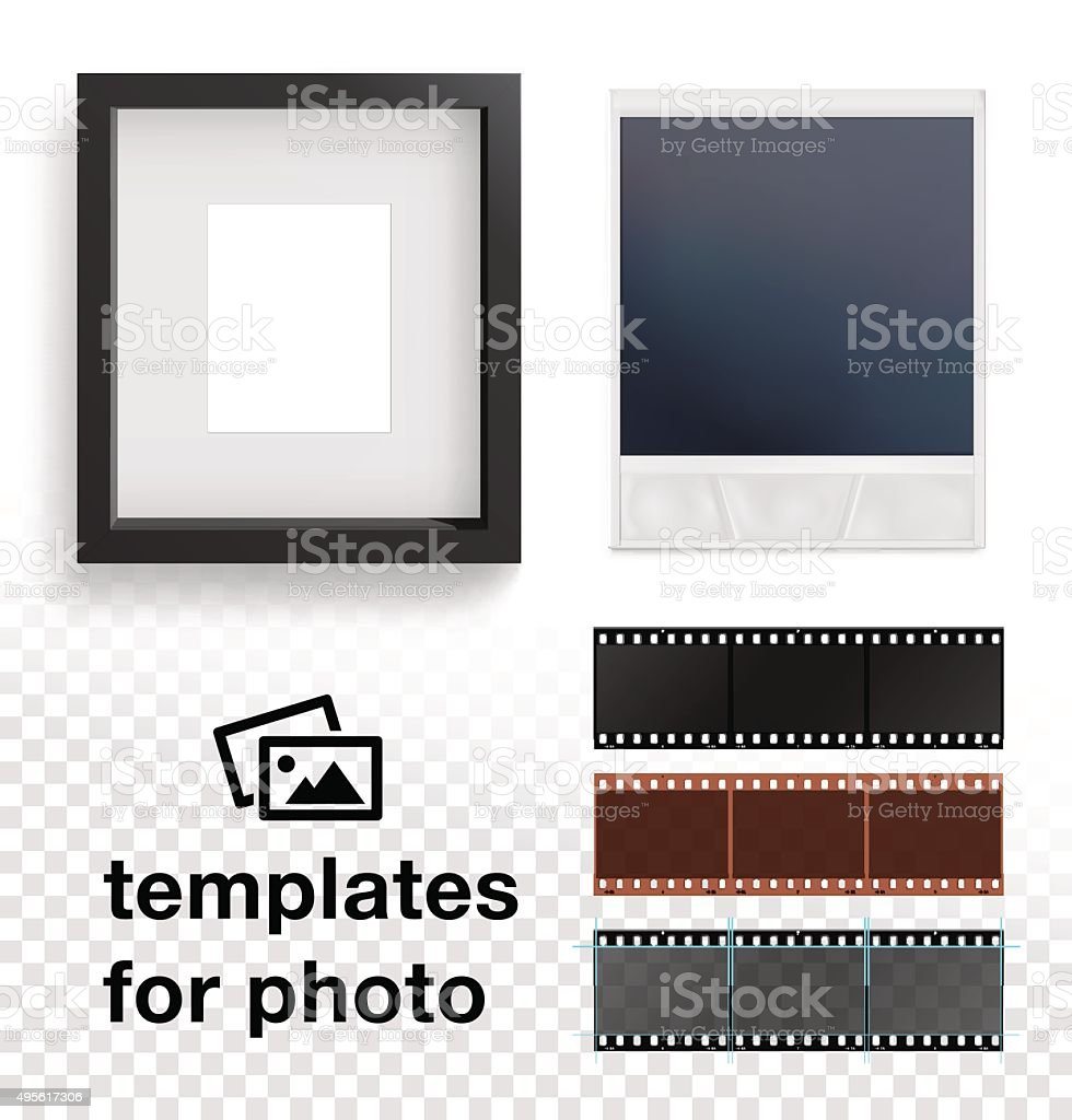Set Of Photo Frame Film Strip Vector Illustration Stock Vector Art ...