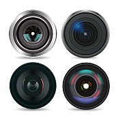 Set of Photo Lens isolated #2. Vector