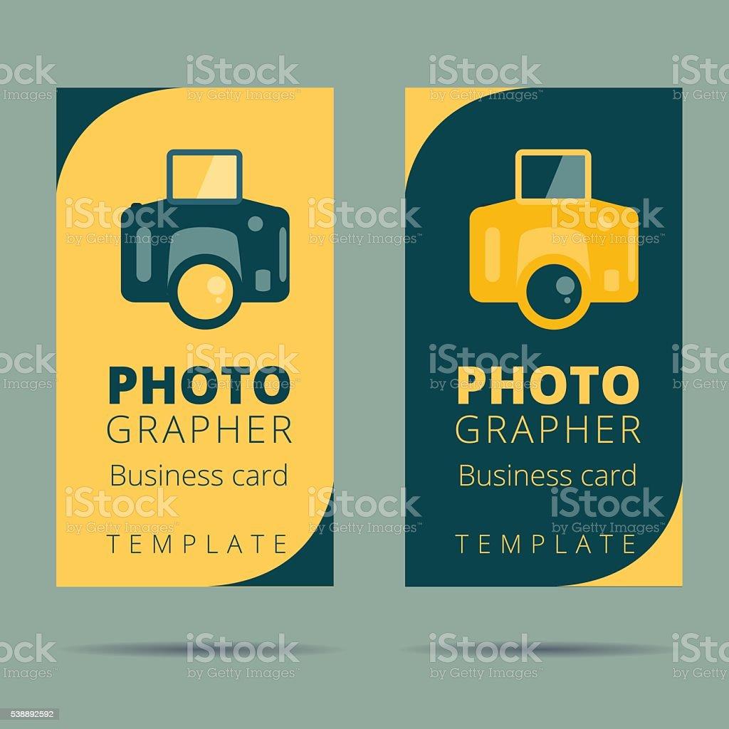 Set Of Photographer Photo Studio Business Card Design Template Stock ...