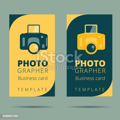 Set of photographer photo studio business card design template stock set of photographer photo studio business card design template stock vector art more images of backdrop 538892592 istock reheart Gallery