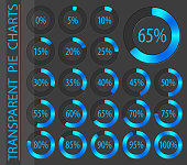 vector abstract 3d paper infographic elements.Business infographics.Pie charts for web design.Progress bar.Element for infographic chart.Dark blue style