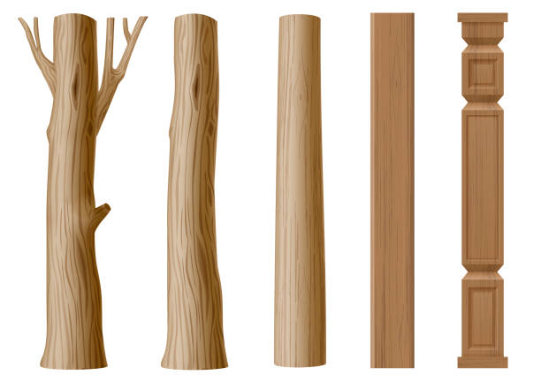 Best Wooden Post Illustrations Royalty Free Vector Graphics Clip