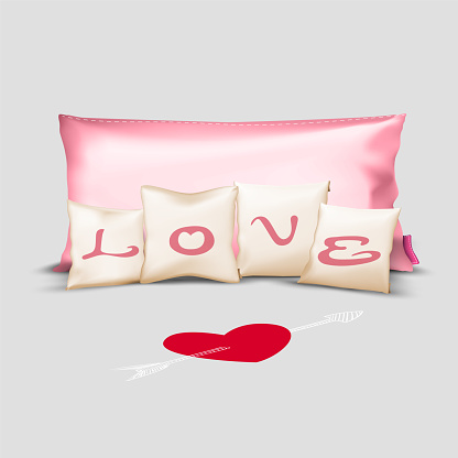 Set of Pillows with Love,Wedding ,Valentine's Day