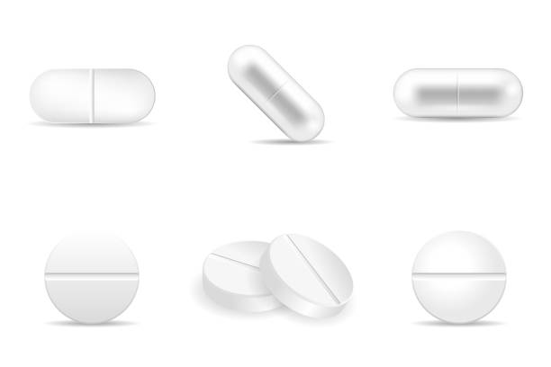 ilustrações de stock, clip art, desenhos animados e ícones de set of pills and drugs in any shapes and forms. - pills