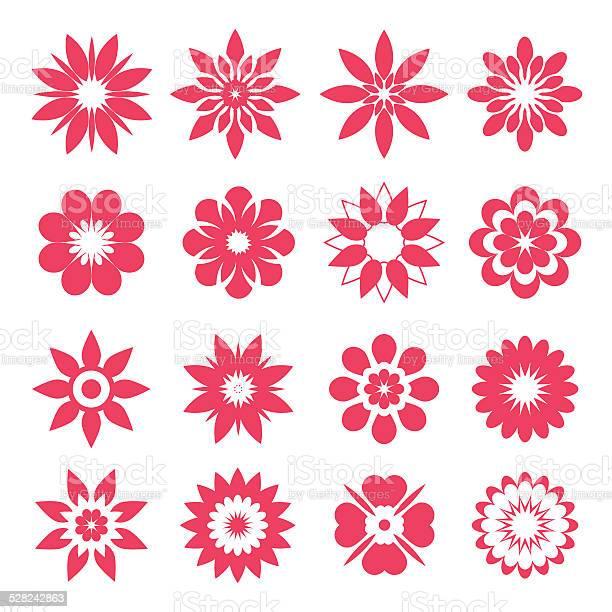 Set of pink geometric flowers vector id528242863?b=1&k=6&m=528242863&s=612x612&h=71tvoxq2b l2swrke3rama v2ufl fftabvo0xnivsa=
