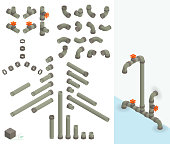 30° isometric water pipes - do it yourself
