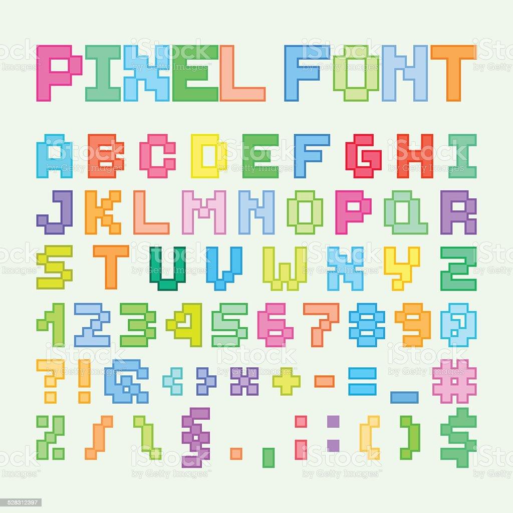 Set De Pixel Art Alphabet Les Lettres Et Des Chiffres Gm528312397 53560106 on Police Alphabet
