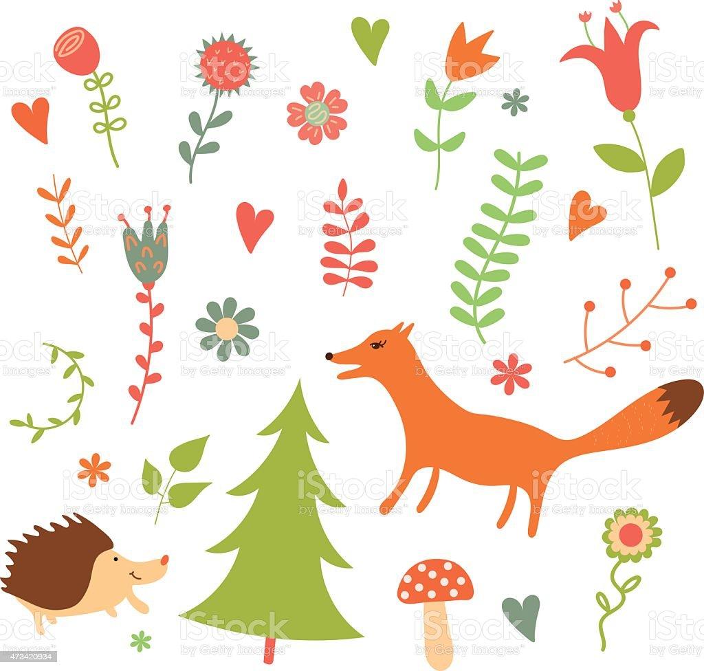 の植物や花動物の のイラスト素材 473420934 | istock