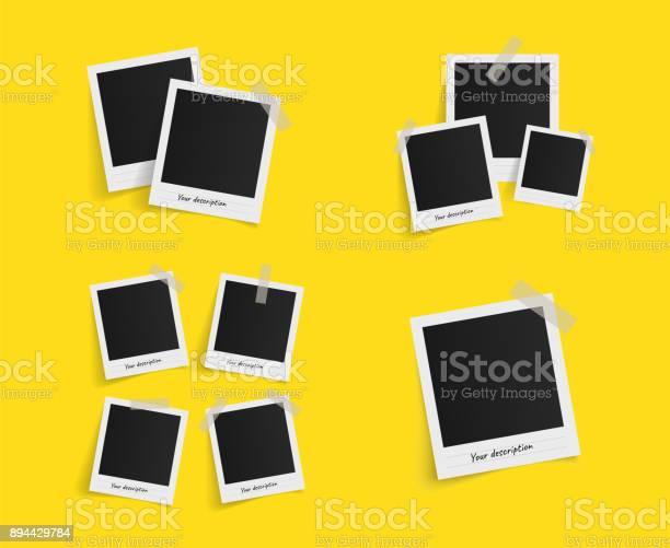 Template photo design. Vector illustration