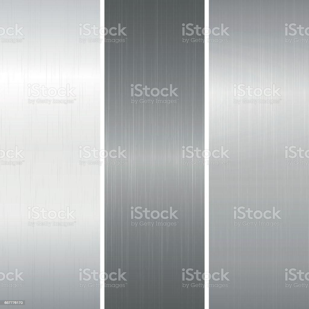 Set of polished metallic surface royalty-free set of polished metallic surface stock illustration - download image now